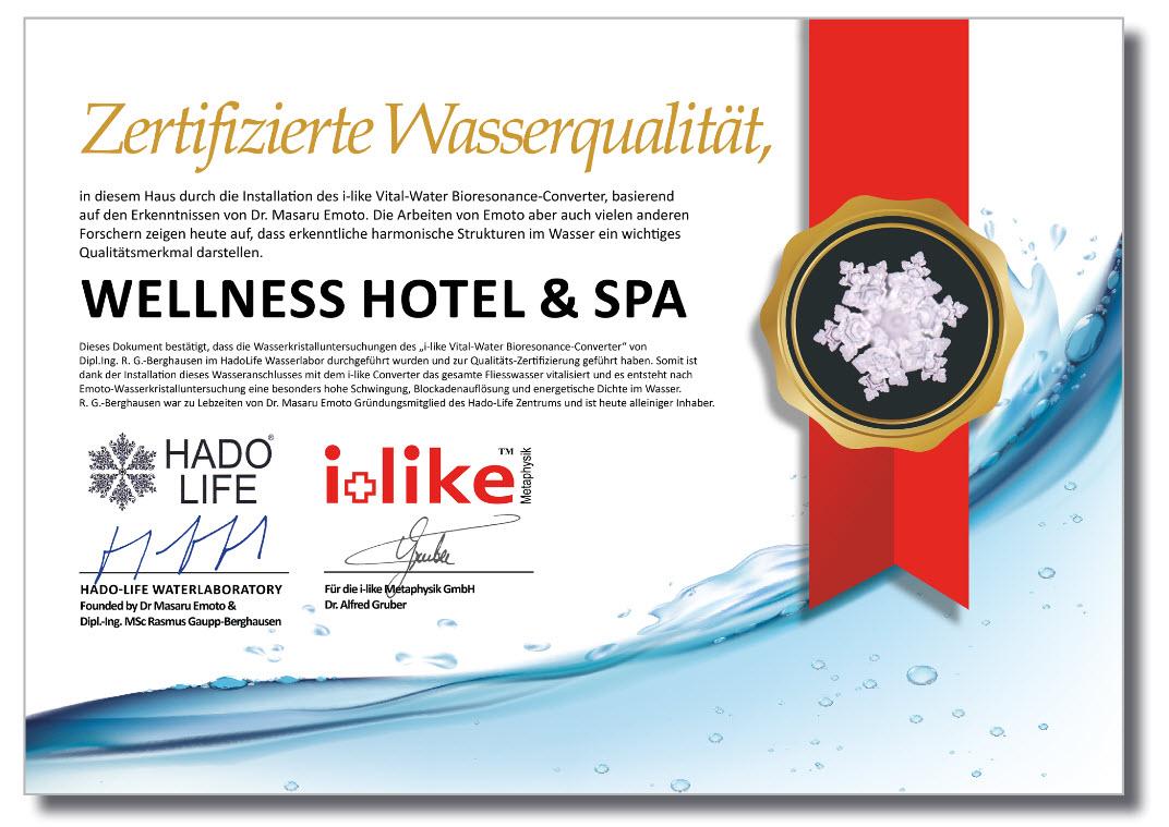 Emoto Wasser Zertifikat